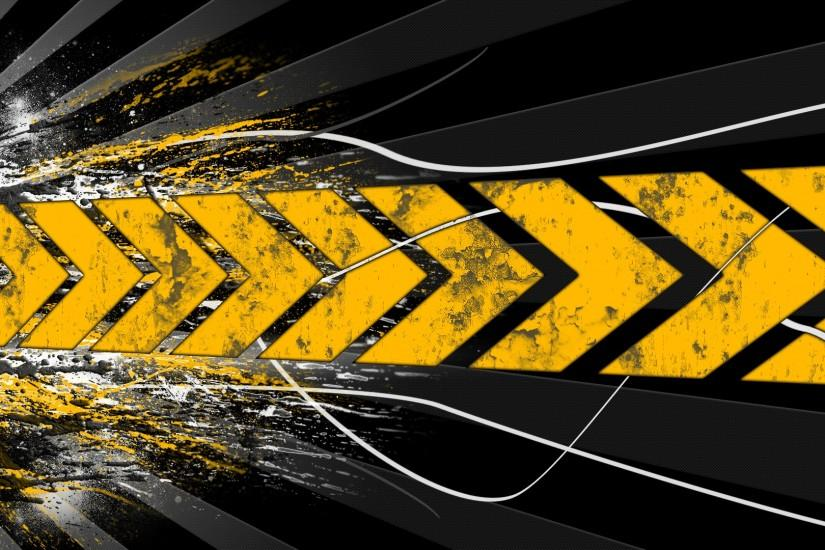 Black And Yellow Abstract Hd Black Yellow Art Wallpaper