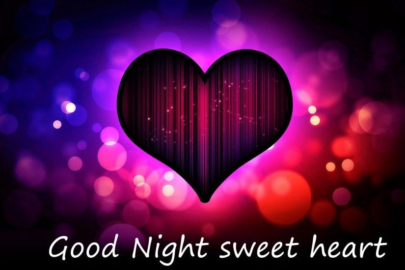 Good Night sweet love heart wallpaper HD for desktop - HDWallpicx.com