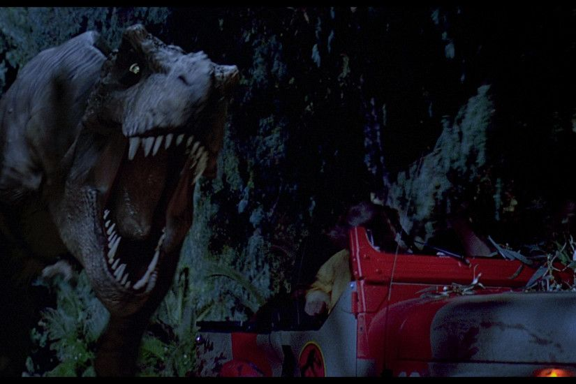 9. The T-Rex Chases Down The Jeep