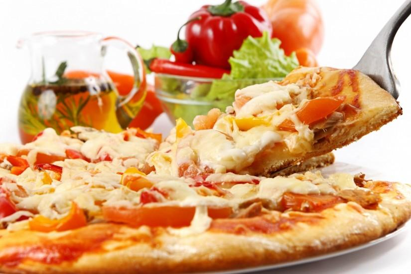 widescreen pizza wallpaper 2048x1152 windows 7