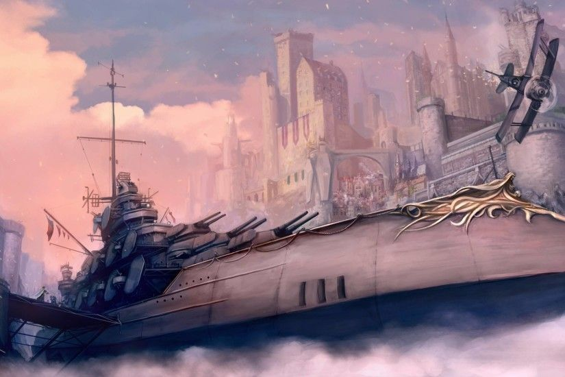 Steampunk Battleship battleship wallpaper - steampunk wallpaper
