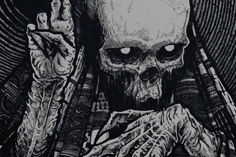 1920x1080 dark fantast skeleton skull occult horror creepy spooky scary  halloween wallpaper