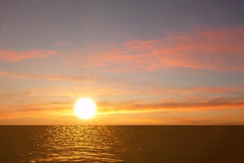 Ocean Sunrise Free video Background