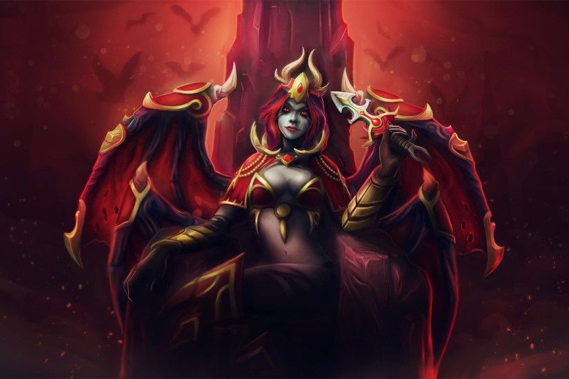 ... Download Wallpaper 2048x1152 Dota 2, Queen of pain, Akasha .