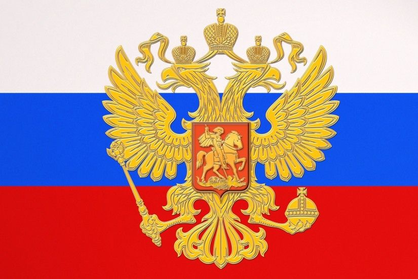 Flag and National Emblem of Russia