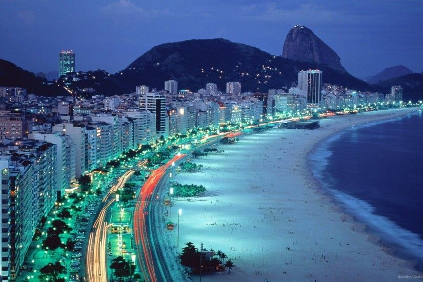 Brazilian Beach By The Night picture