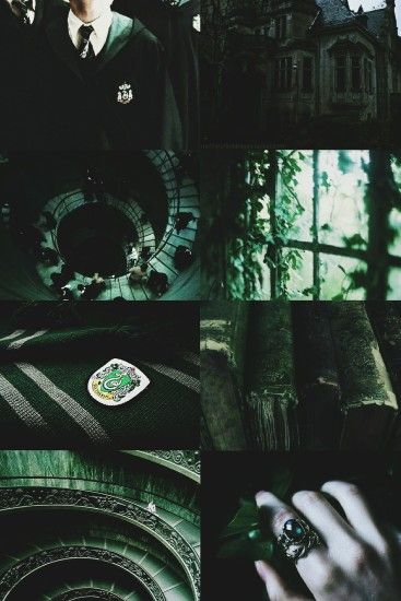 Slytherin House Pride Aesthetic/Moodboard