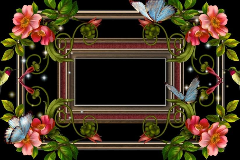 Designs Tag - Creative Resources Beauty Softness Humming Frames Flowers  Cute Pre Curling Vines Birds Love