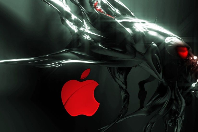 Alien Apple 3D Wallpaper.
