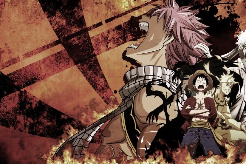 1920x1080 Tags: Anime, ONE PIECE, Gintama, FAIRY TAIL, BLEACH, NARUTO