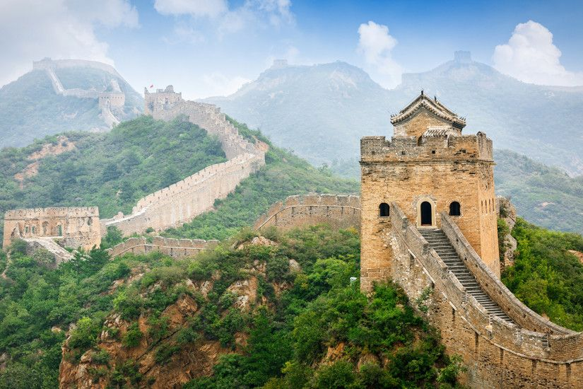 Photo China Nature Mountains The Great Wall of China 1920x1200