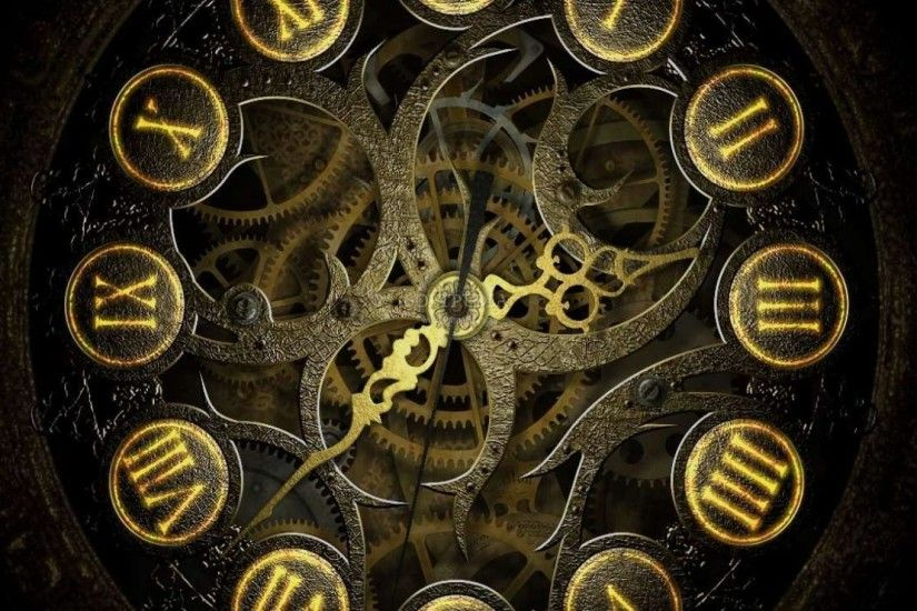 Cool-backgrounds-steampunk-clock