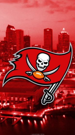 ... tampa bay buccaneers 2017 logo mobile wallpaper iphone 7, 6, 5, galaxy  s7