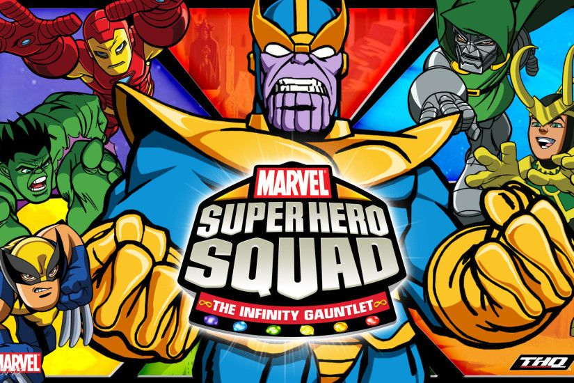 marvel super hero squad the infinity gauntlet keyart widescreen wallpaper