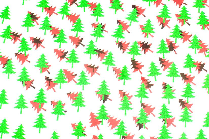 a festive themed background of red and green christmas tree shapes