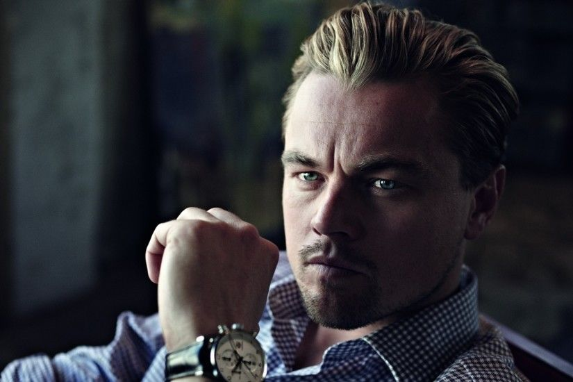 Preview wallpaper leonardo dicaprio, actor, man, watch, bristles 1920x1080