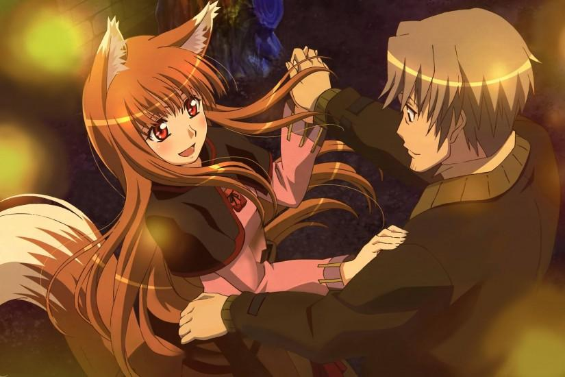 Lawrence and Holo from Spice and Wolf dancing
