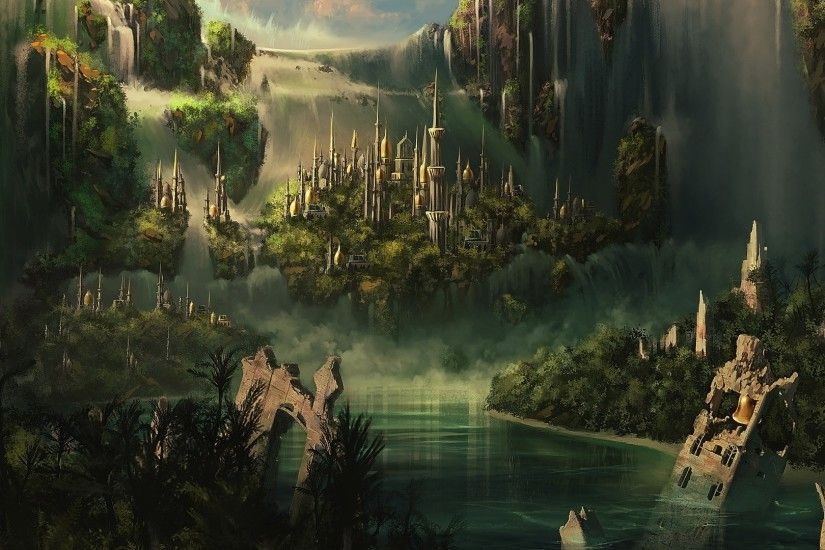 ... Green Lord Of The Rings Wallpaper Whtie Simple Waterfall Adjustable  Collection Sample Building hobbit lord of ...