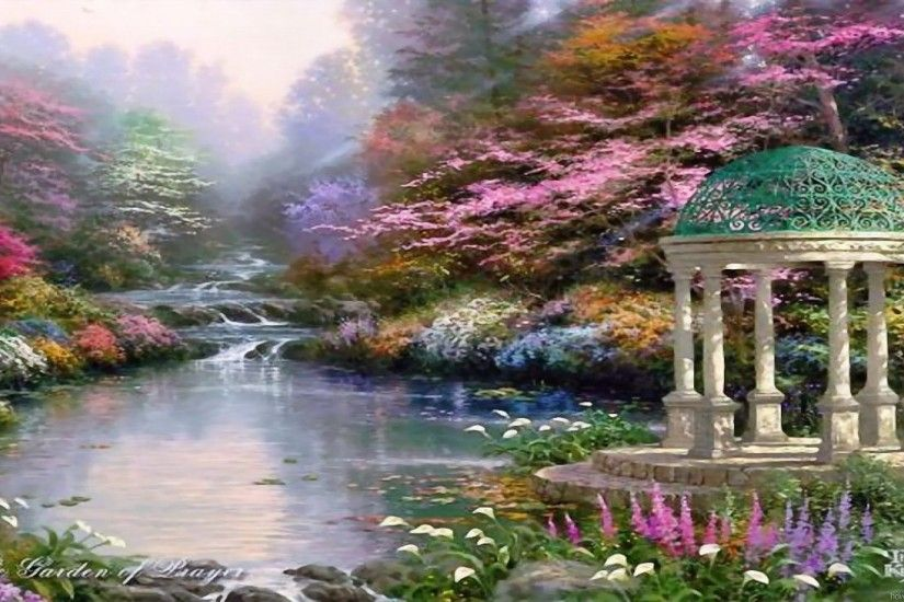 Thomas Kinkade Wallpaper, Paintings, Art, HD, Desktop, Thomas Kinkade .