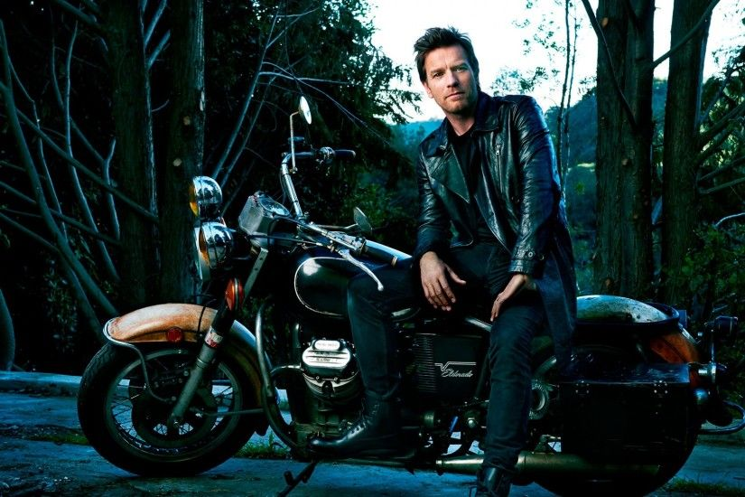 Download now full hd wallpaper ewan mcgregor retro motorcycle stylish  leather jacket ...