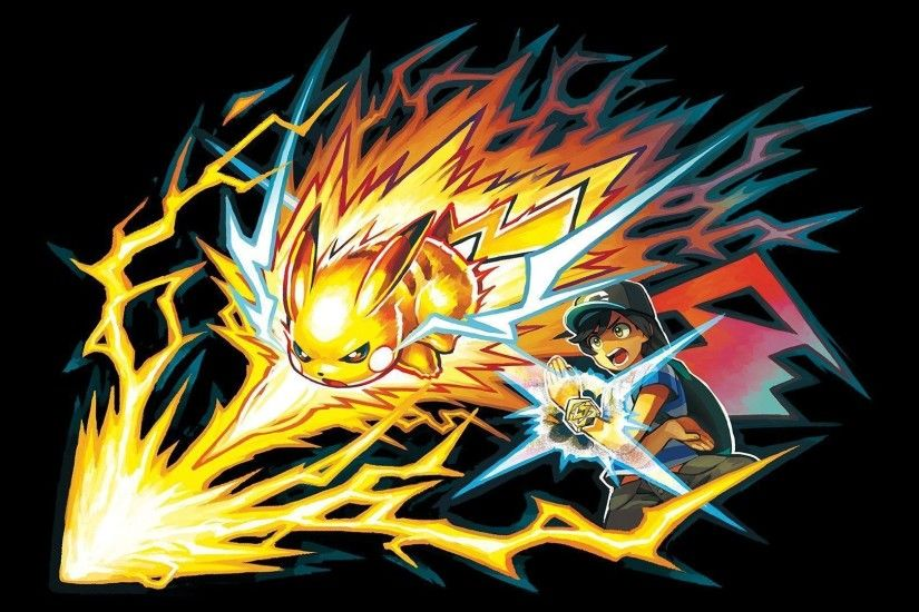 Pikachu Z-Move Pokemon Sun and Moon Wallpaper #14630