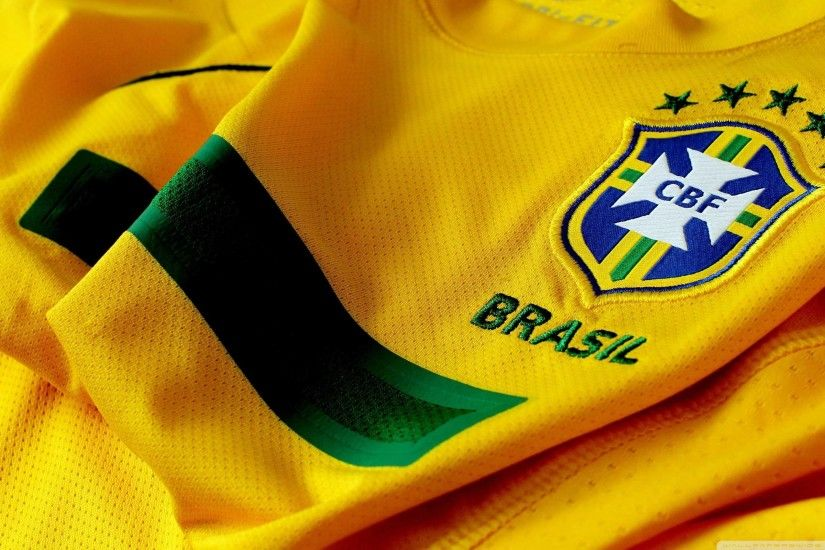 Brazil Soccer Shirt And Logo Wallpapers HD
