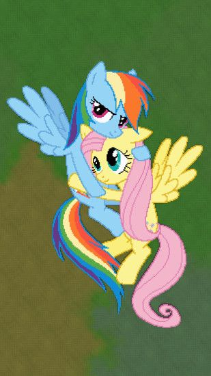 mc rainbow dash and fluttershy Wallpaper