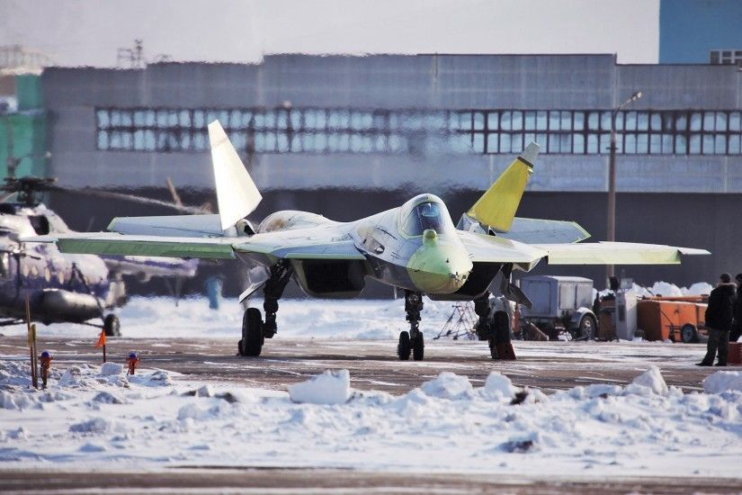 Planes Sukhoi Russia Jet Fighter Stealth Yellow T-50