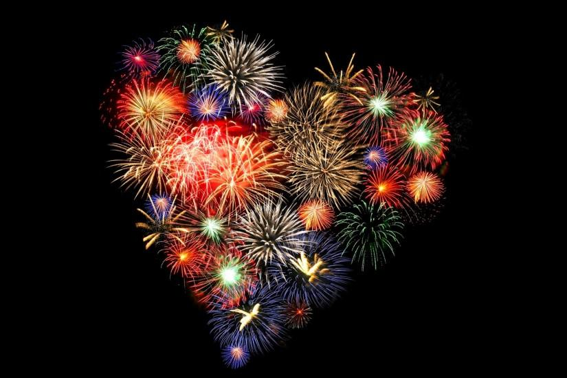 Heart Shape Fireworks Exclusive HD Wallpapers #5335