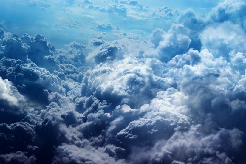 nature, Landscape, Clouds, Bird's Eye View, Blue, Sky Wallpapers HD /  Desktop and Mobile Backgrounds
