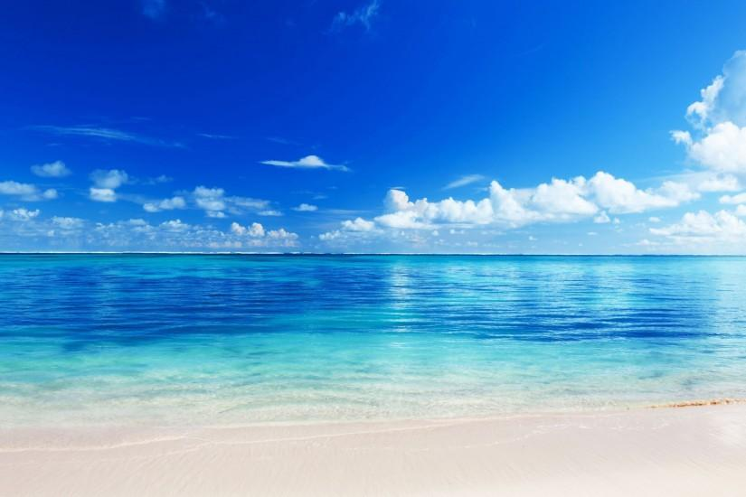 Preview wallpaper sea, beach, horizon, sand, tropics 3840x2160