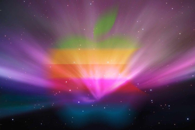 Rainbow color effect full hd mac apple os desktop wallpaper free .