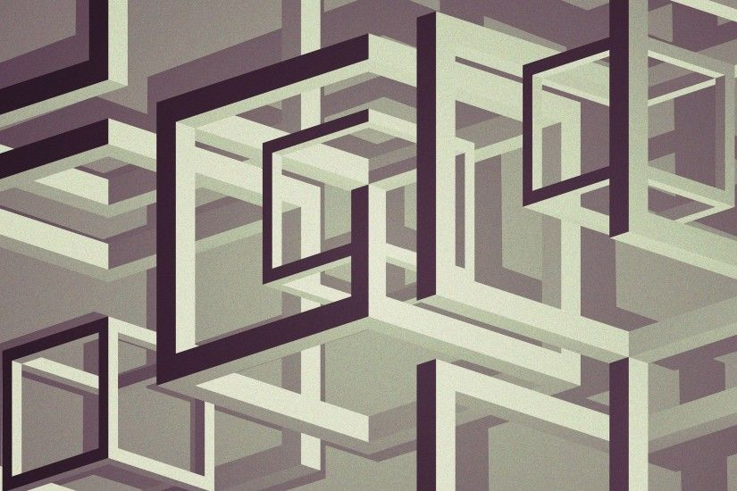 digital Art, Abstract, Cube, Lines, 3D, 3d Object, Monochrome, Optical  Illusion, Artwork Wallpapers HD / Desktop and Mobile Backgrounds