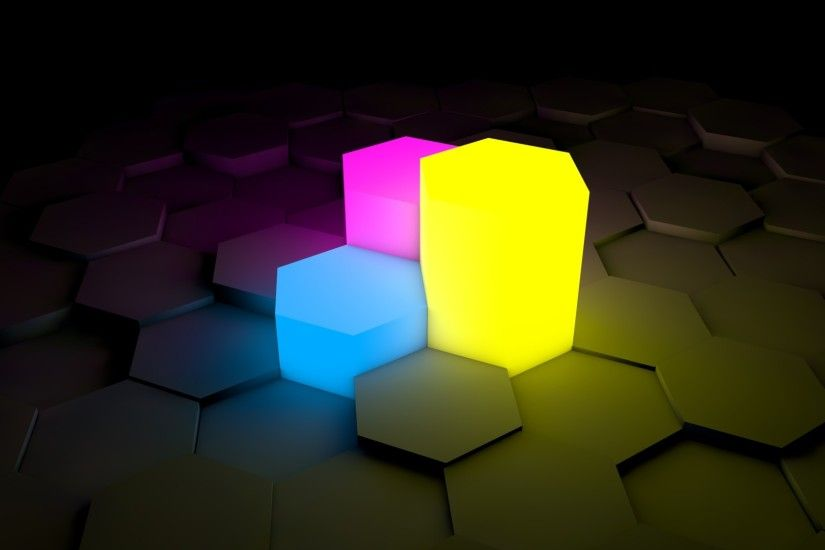 Neon hexagonal prism HD desktop wallpaper, Hexagon wallpaper, Neon wallpaper,  Prism wallpaper - no.