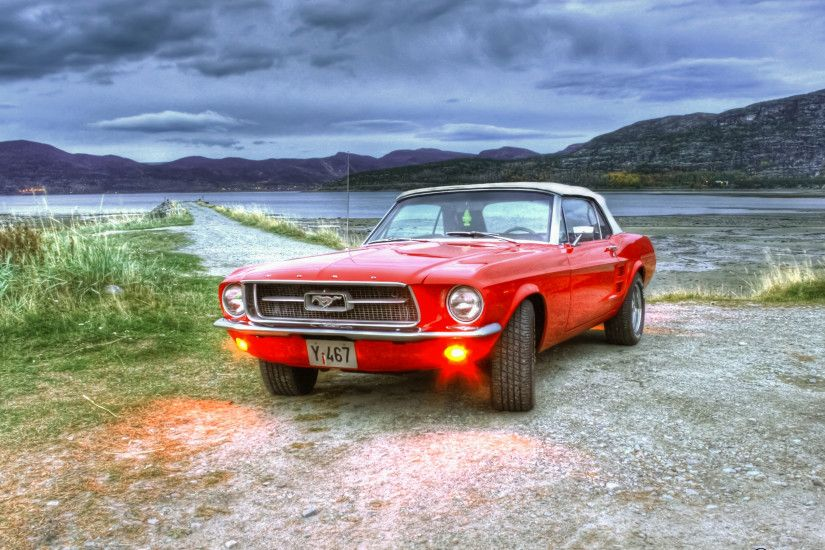3840x2160 Wallpaper ford, mustang, hdr