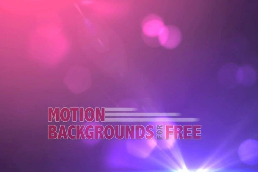 "Free Light and Energy Motion Background ""Glamour"""
