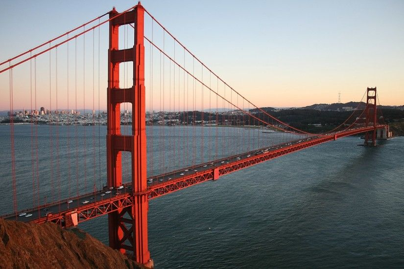 at dusk, Golden Gate Bridge