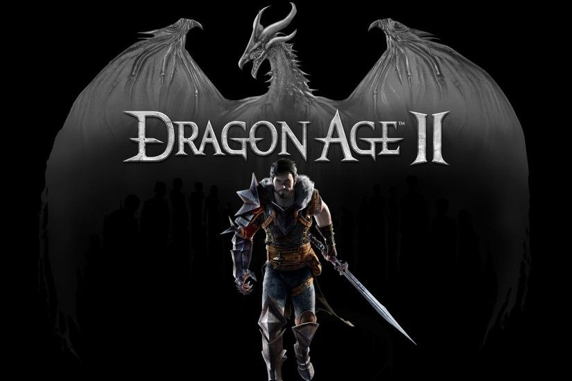 1920x1080 Wallpaper dragon age 2, dragon, warrior, hawke, sword