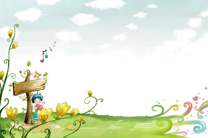 Cool Spring Cartoon Backgrounds