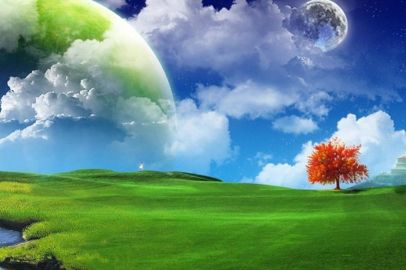 Fantasy Nature Landscape Wallpaper Desktop 1970 Wallpaper