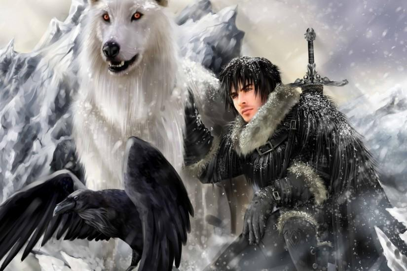 Preview wallpaper game of thrones, a song of ice and fire, jon snow,