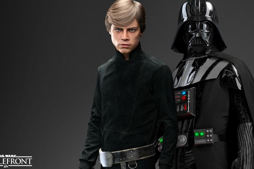 Luke Skywalker and Darth Vader - Star Wars Battlefront Wallpaper