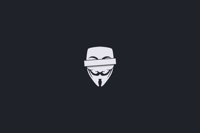 anonymous minimalistic censored masks guy fawkes v for vendetta simple  2560x1600 wallpaper Art HD Wallpaper