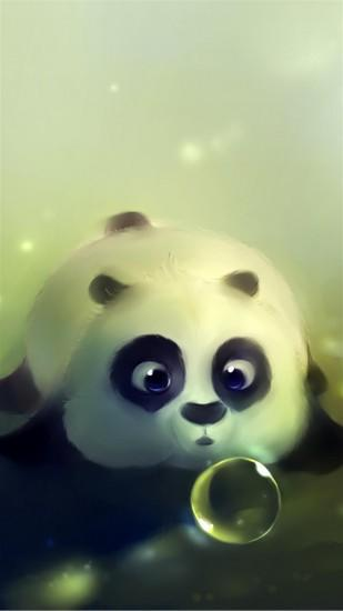 Cute Panda Bubble Android Wallpaper free download