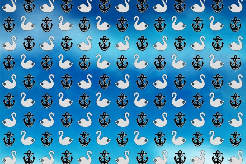... CS pattern (swan + anchor) blue background by Gaviotica31