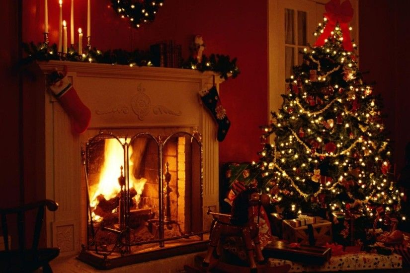 christmas, holiday, fireplace
