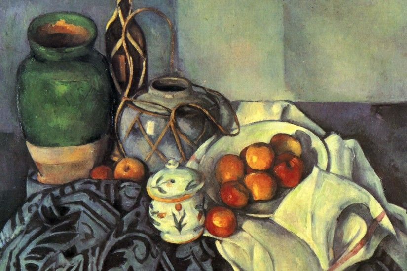 Still Life with Apples - Paul Cezanne - WikiPaintings.