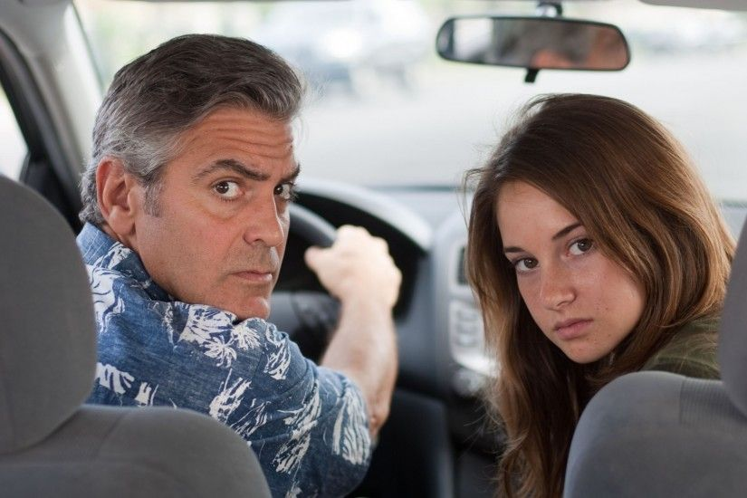 1920x1080 Wallpaper the descendants, george clooney, shayleen woodley,  amara miller
