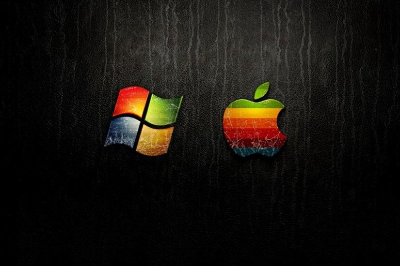 Windows vs Apple wallpaper