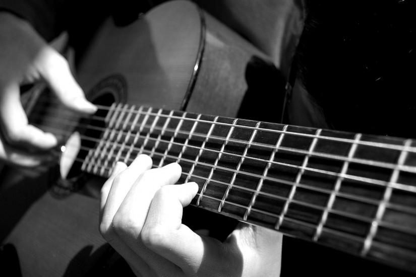 free black white abstract desktop wallpaper downloads (music) | Download Acoustic  Guitar HD 1080P